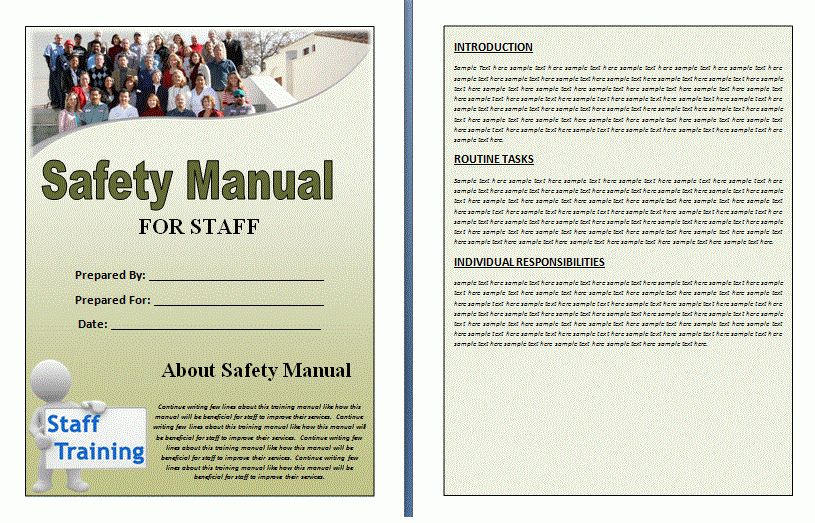 Safety Manual Template | Formsword: Word Templates & Sample Forms