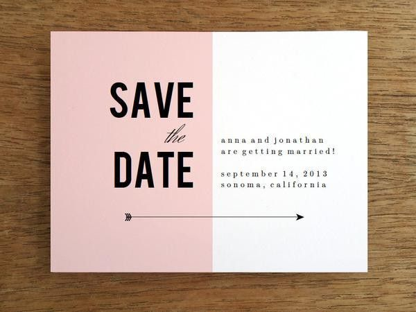 Printable Save the Date - Pink Block – e.m.papers