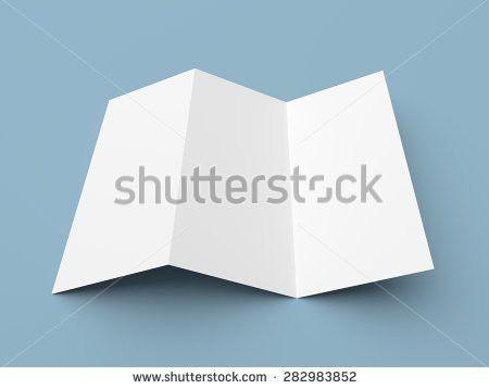 Leaflet Blank Zfold White Paper Brochure Stock Illustration ...