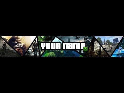 Speedart] Template Banner Multi-Gaming | Photoshop – Youtube in ...
