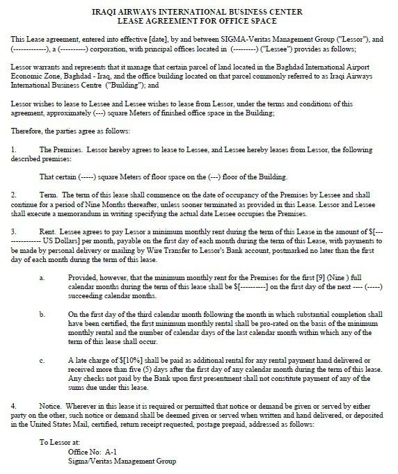13 Free Sample Office Sublease Agreement Templates – Printable Samples