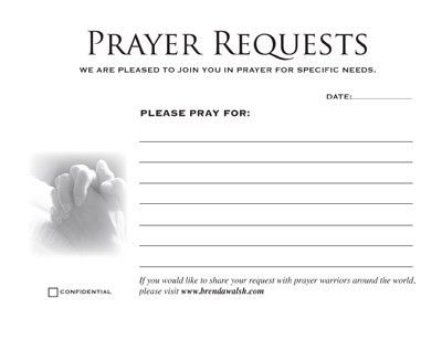 prayer card printable prayer request cards 4 cards on 8 5 x 11 ...