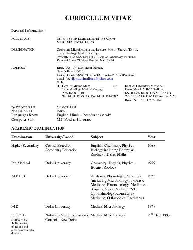 Medical Student Cv. Student Curriculum Vitae Sample 9+ Sample ...