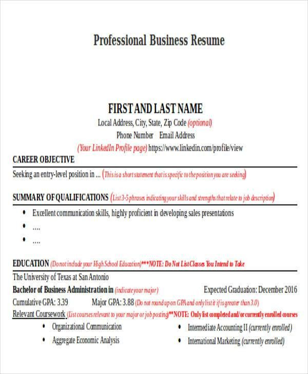 27+ Business Resume Templates Download | Free & Premium Templates