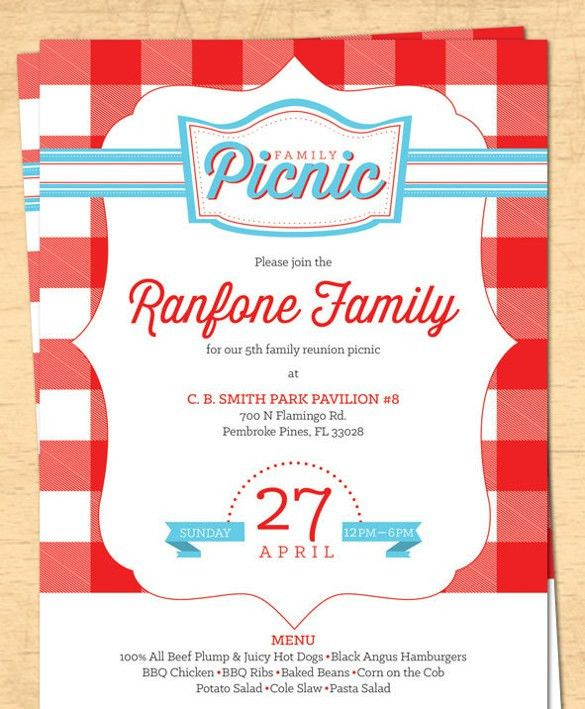 17+ Picnic Invitation Templates – Free Sample, Example, Format ...