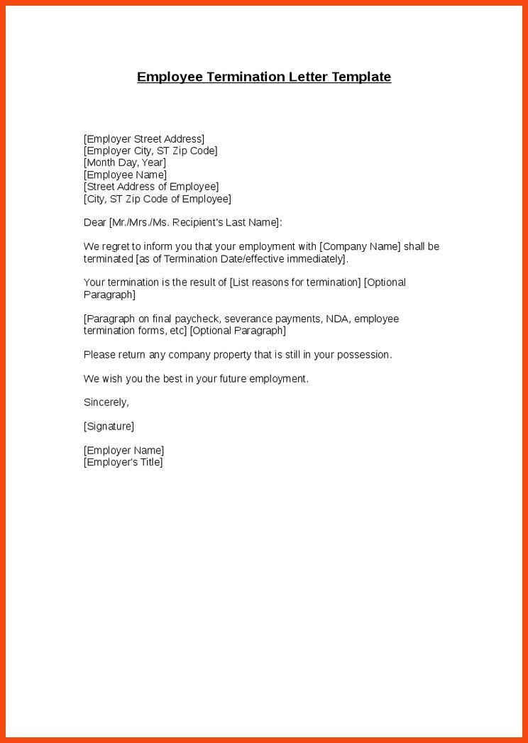 severance letter template