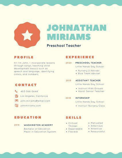 32 best Resume Ideas images on Pinterest | Resume ideas, Teacher ...