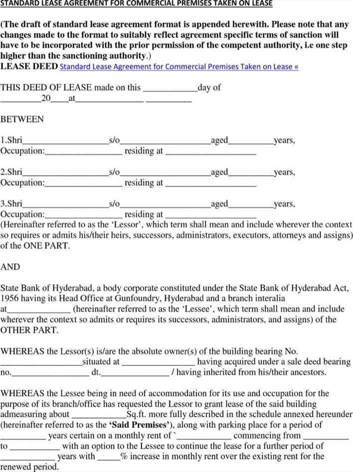 Standard Commercial Lease Agreement Free Free Missouri Commercial
