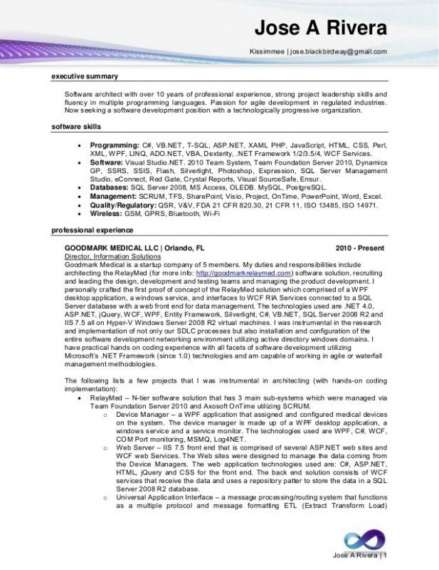 net developer resume cover letter portfolio template senior