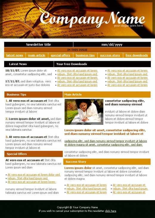 Learning Company Newsletter Template - TemplatesBox.com