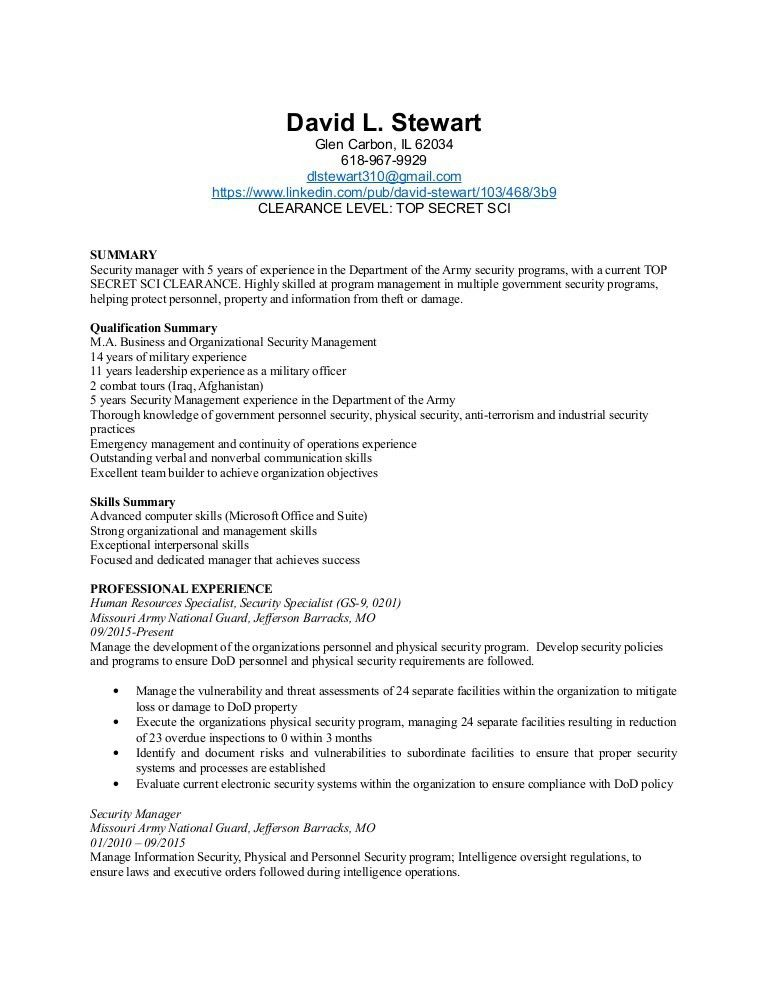 physical security specialist resume security specialist resume