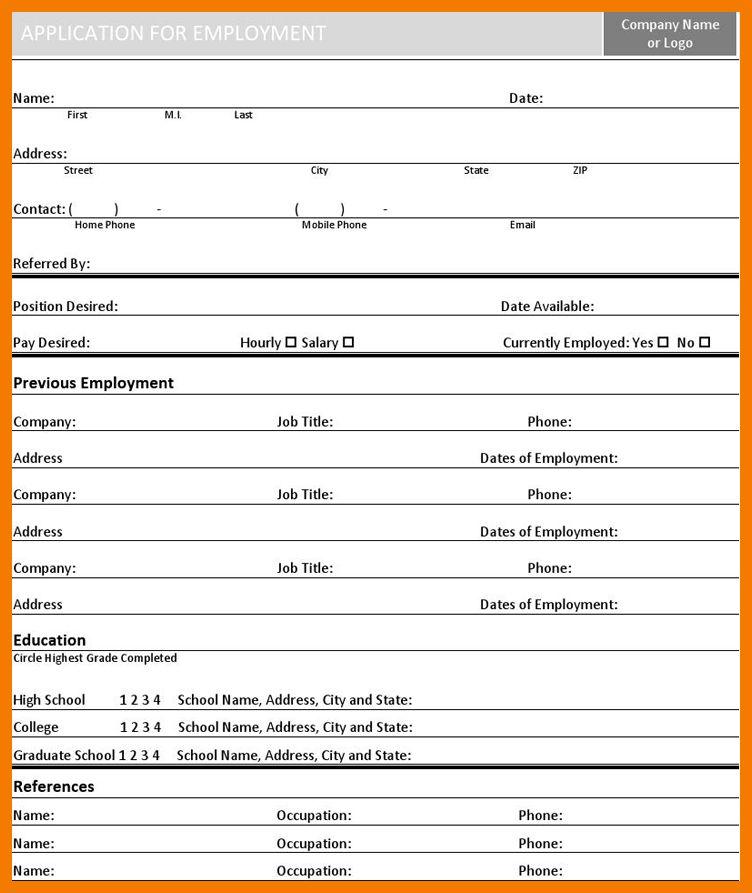 7+ basic job application form | resume holder