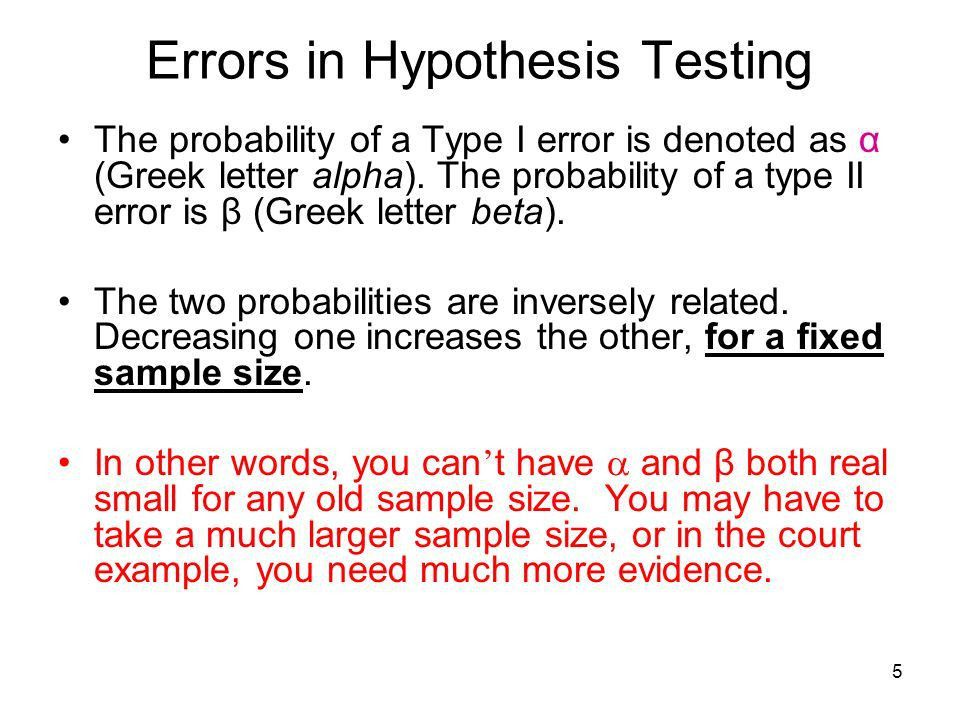 1 Hypothesis Testing A criminal trial is an example of hypothesis ...