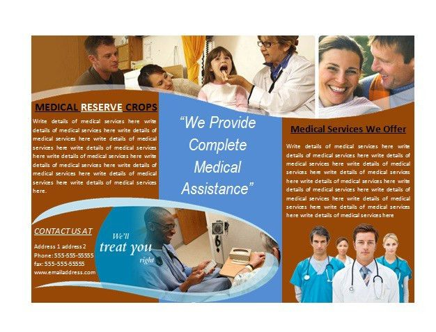 Medical Brochure Template For Medical Services | Brochures | Ready ...