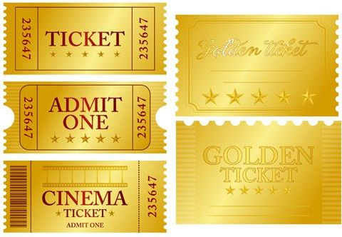 Movie ticket design free vector download (422 Free vector) for ...