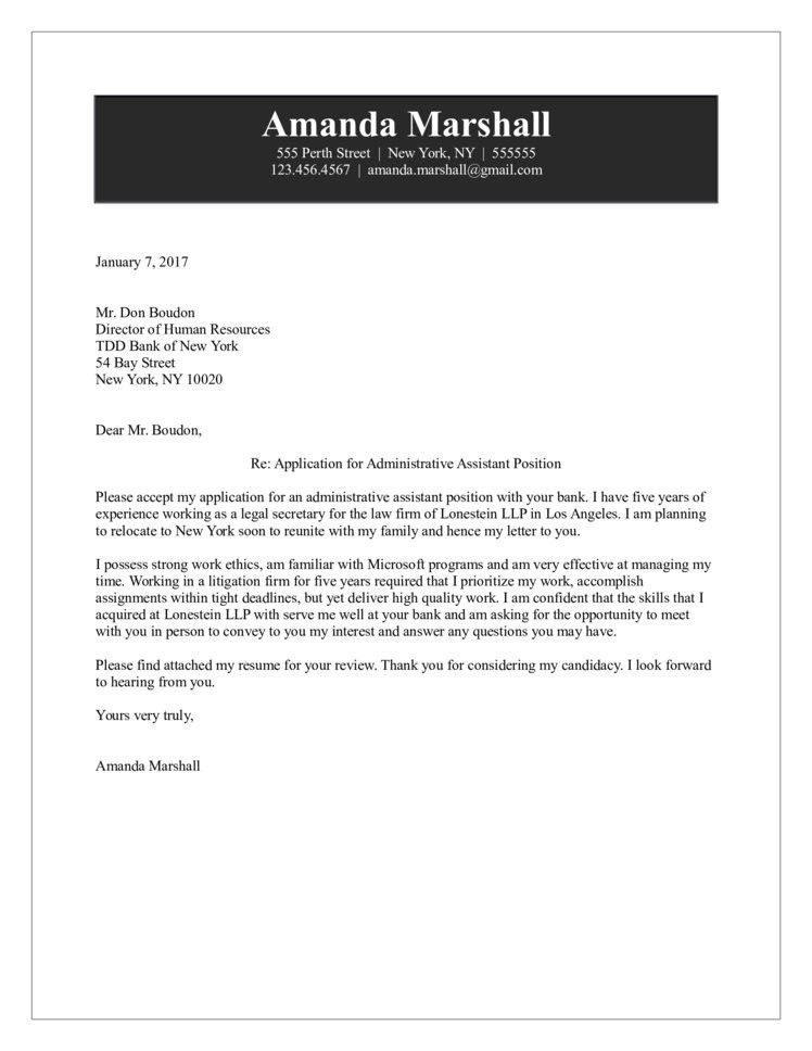 Executive Assistant Cover Letters. Cover Letter Samples ...