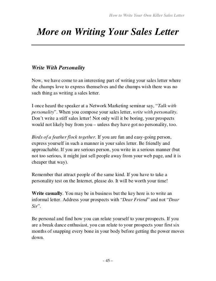 How to-write-your-own-seller letter