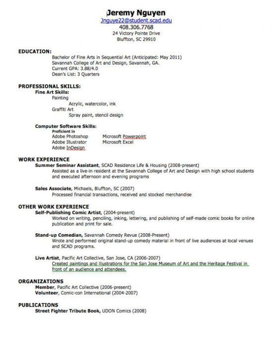 resume for waiters