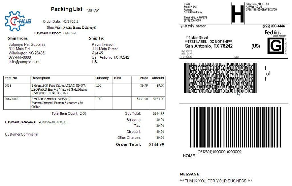 FedEx   Integrate with QuickBooks eCommerce using Atandra T-HUB