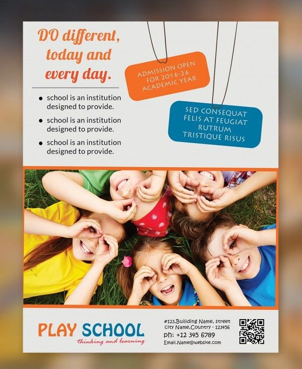 PSD Play School Flyer Template Free Download | Free & Premium ...