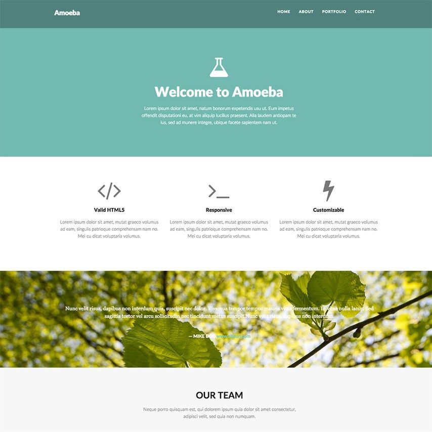 Free Minimal Creativity Responsive Website Template