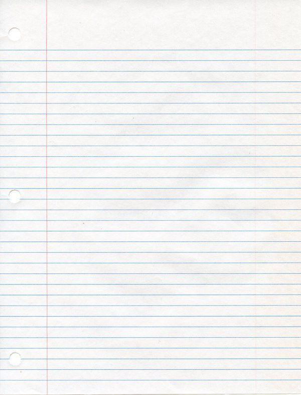 Printable loose leaf paper the numbers