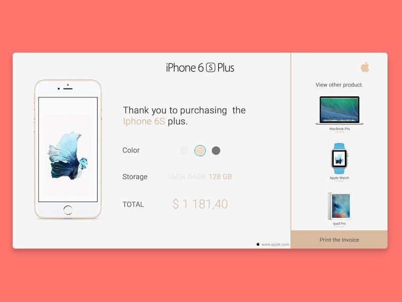 "Collect UI on Twitter: ""#DailyUI 017: Email Receipt design by ..."