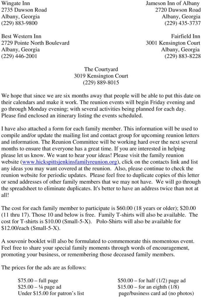 Sample Family Reunion Invitation Letter Family Reunion