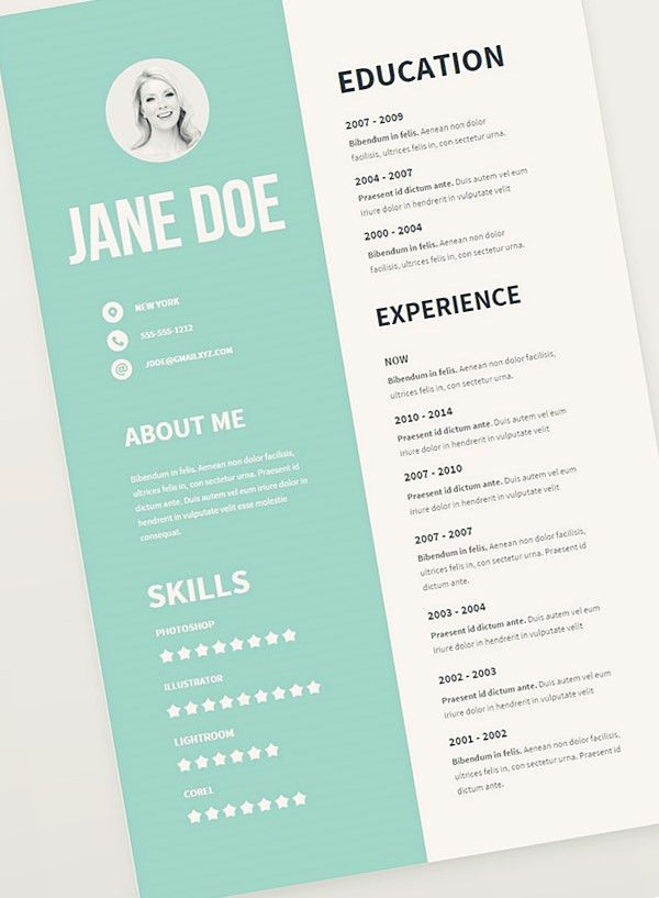 Free Resume Template Pack | Misc | Pinterest | Free resume, Free ...
