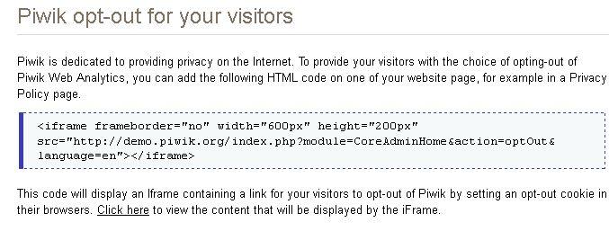 Configure Privacy Settings in Piwik - Analytics Platform - Piwik