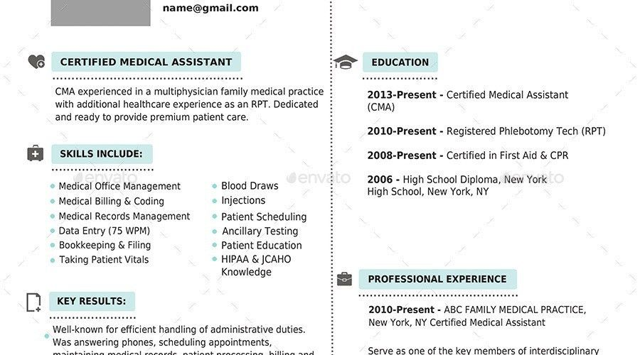 10+ Medical Assistant Resume Templates - Free PDF, Word, PSD