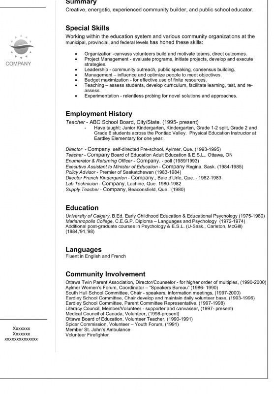 How A Resume Looks Like | Samples Of Resumes