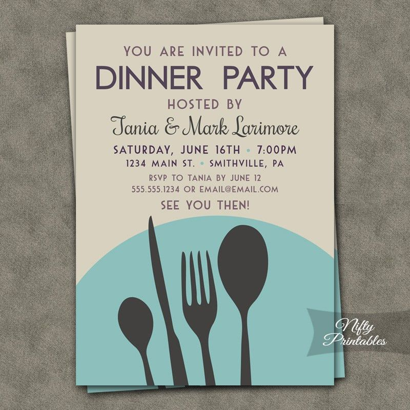 Impressive Free Printable Dinner Party Invitations Especially ...