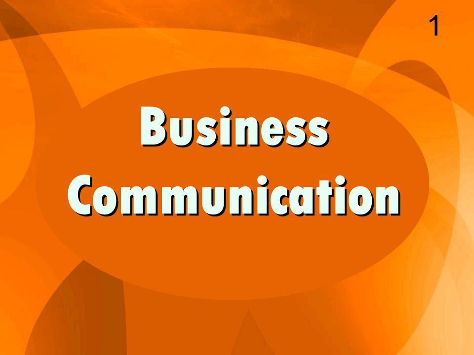 Business Communication 1. Layout of a Business Letter 2 1. The ...