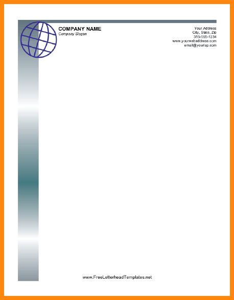 8+ business letterhead format | model resumed