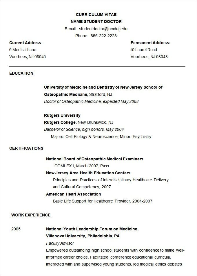 Microsoft Word Resume Template – 99+ Free Samples, Examples ...