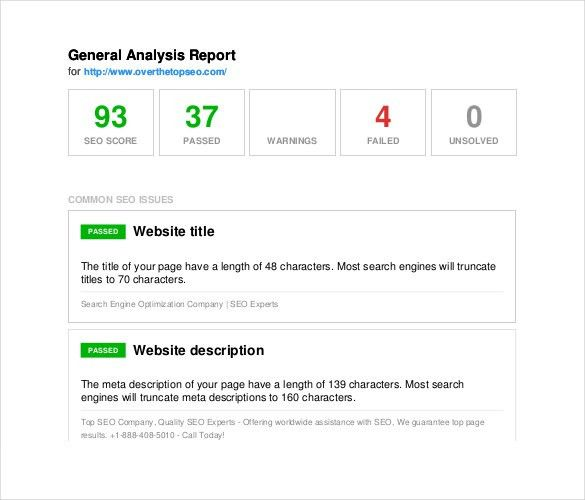10+ SEO Report Templates - Free Sample, Example, Format Download ...
