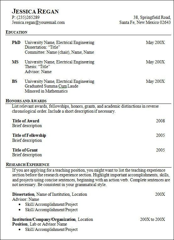 Sample Of Resume. Sample Format For Resume - Sample Format Of ...
