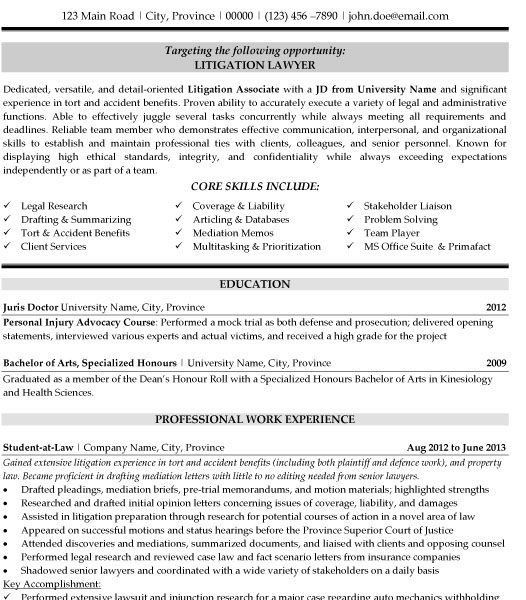 Shocking Ideas Legal Resume Template 11 Litigation Lawyer Resume ...