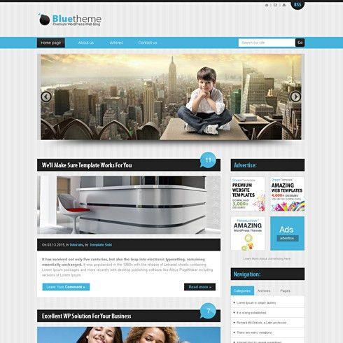 BlueStripes - HTML Template - Web Blog - Corporate - CSS Templates ...