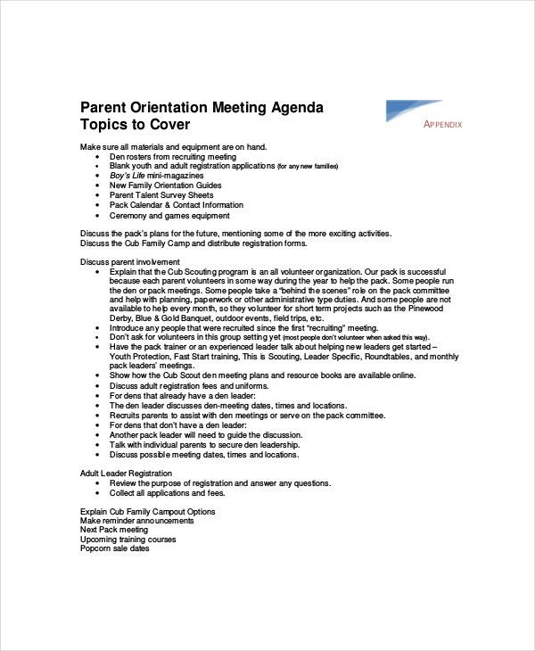 Staff Meeting Agenda Template – 10+ Free Word, PDF Documents ...