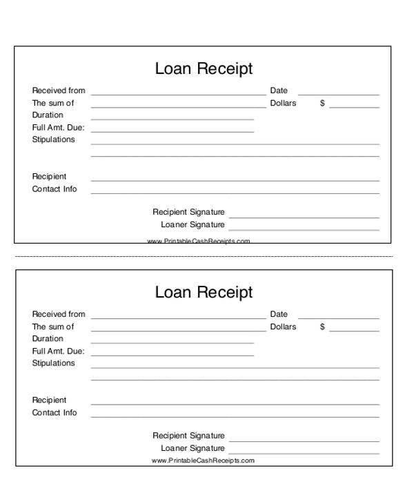 24 Payment Receipt Formats