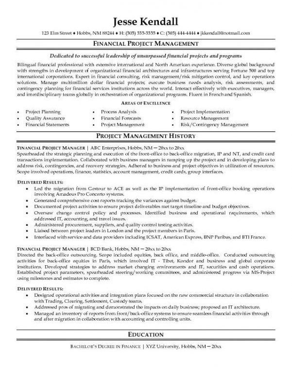 Stunning Project Manager Resume Objective 15 Project Manager ...