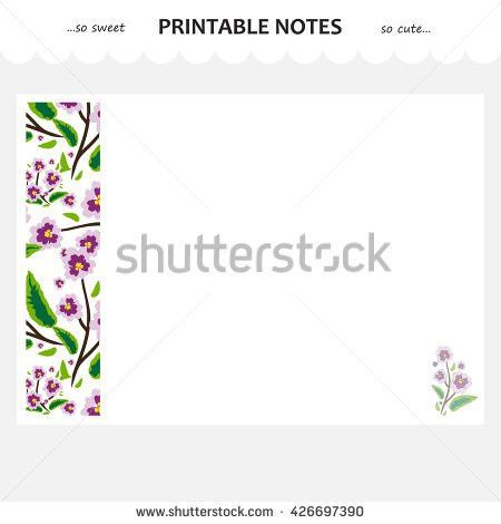 Vector Design Set Printable Paper Beautiful Stock Vector 436807834 ...
