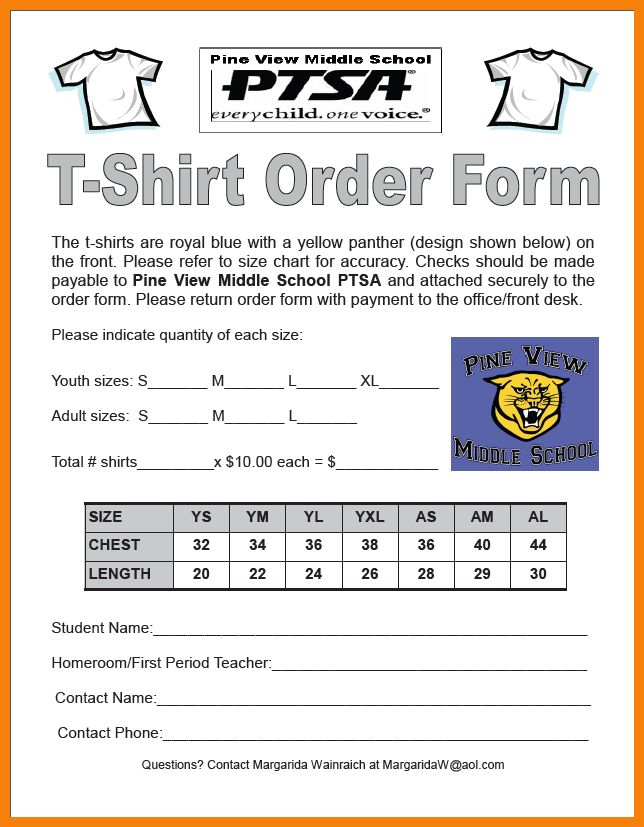5+ tshirt order form template | hr cover letter
