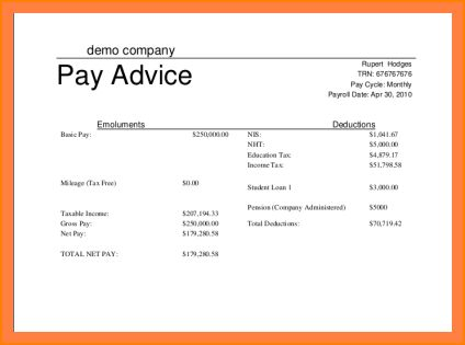 6+ simple payslip template excel | Salary Paper Format