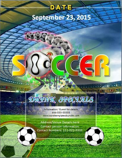 MS Word Sports Event Flyer Template | Formal Word Templates