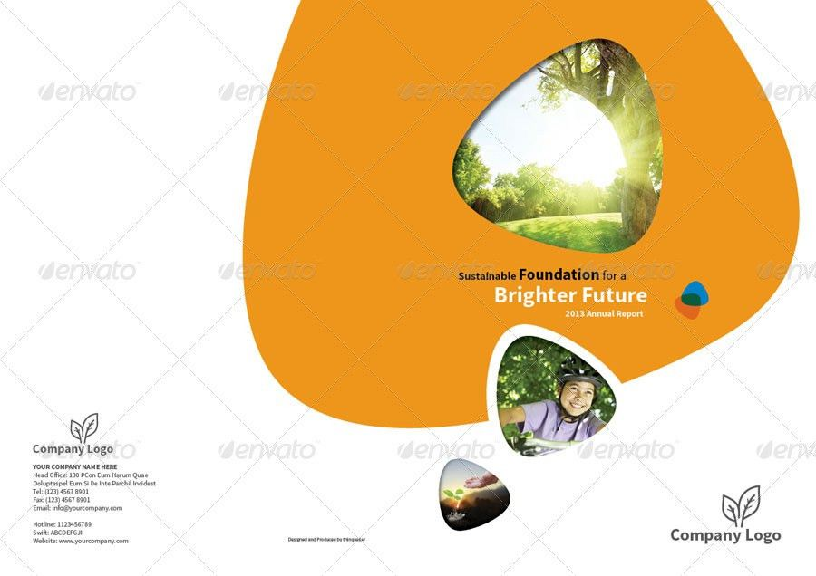 Annual Report Design Template Vol.1 by thinqueber | GraphicRiver