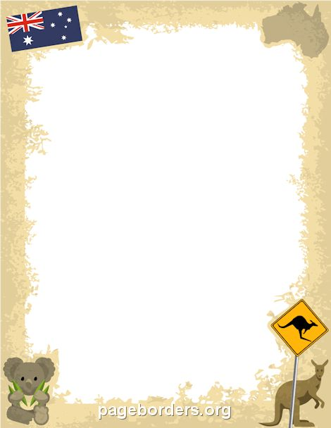 Printable Australia border. Use the border in Microsoft Word or ...