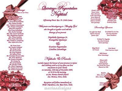 Wedding Invitation Samples - marialonghi.Com